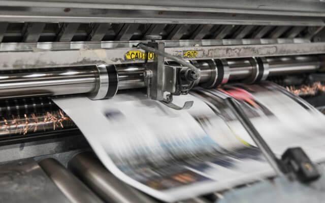 Zeitungen werden gedruckt
